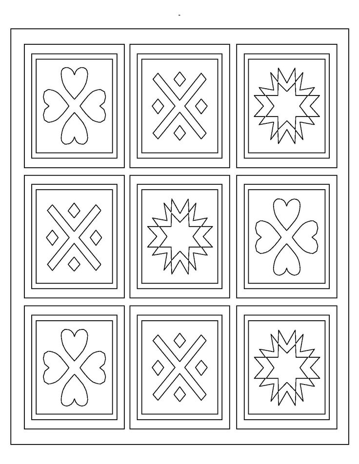 9 best Quilt Coloring Pages images on Pinterest Mandalas Print