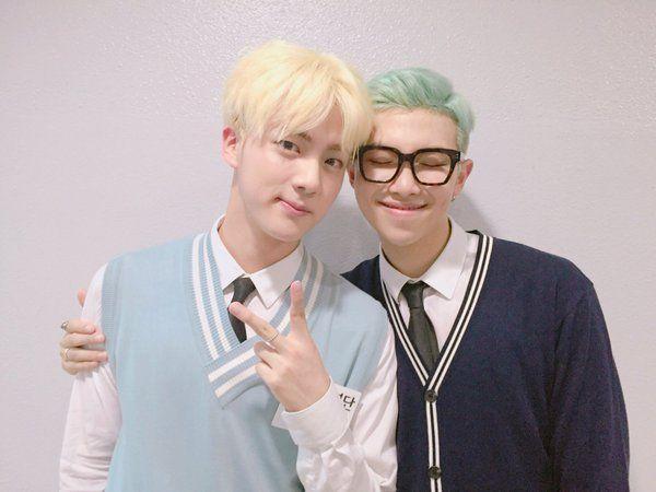 JIN AND RAP MONSTER BTS