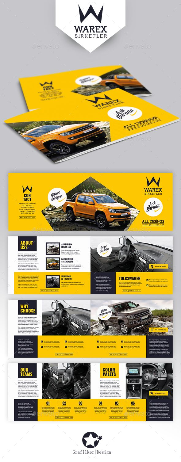 Automobile Introduction Brochure Template PSD, InDesign INDD