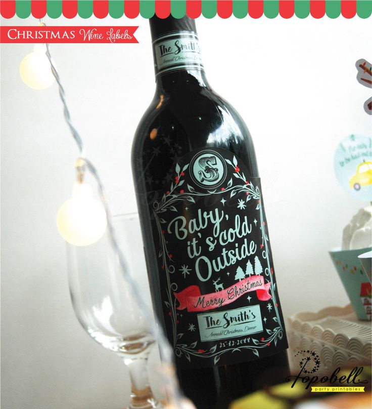 Excited to share the latest addition to my #etsy shop: Christmas Personalized Wine Labels printable for Christmas Party. DIY Christmas Wine Label. House Party. Christmas Labels. DIGITAL FILE. #christmas #partygifting #christmaswinelabel #winelabels #hostessessential