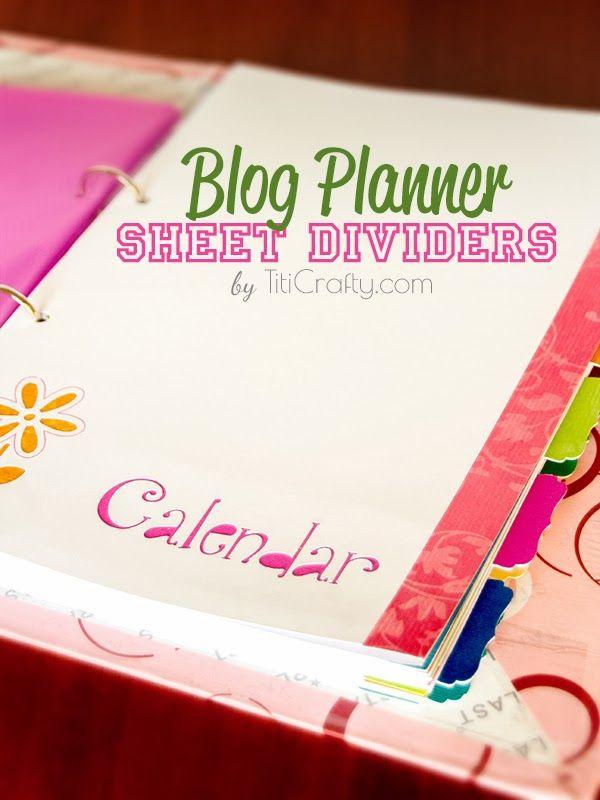 Blog Planner Sheet Dividers DIY Tutorial + Free Cut Files