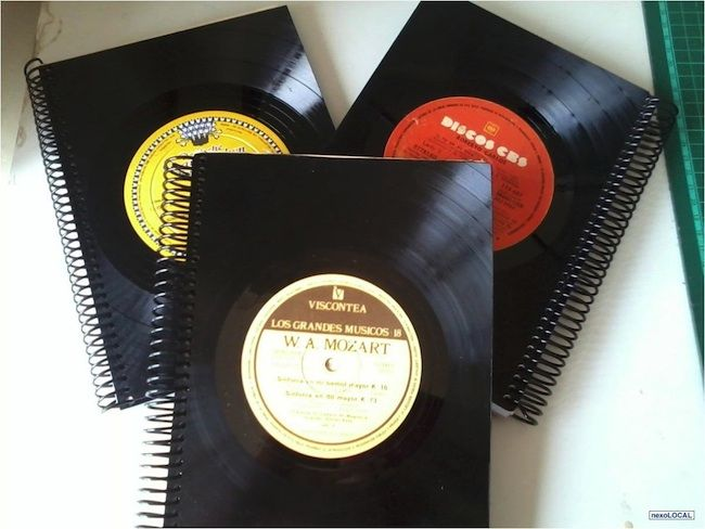 ideas para reciclar discos de vinilo