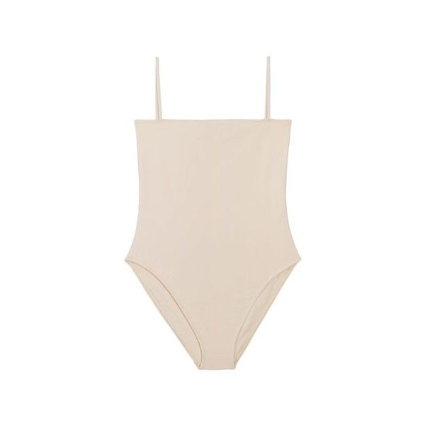 Nu Swim Bone Straight Top One Piece ($112) ❤ liked on Polyvore featuring swimwear, one-piece swimsuits, swimsuits, bodysuits, tops, bikini, swim bikini, swimsuits bikinis, swimming costume and swim wear