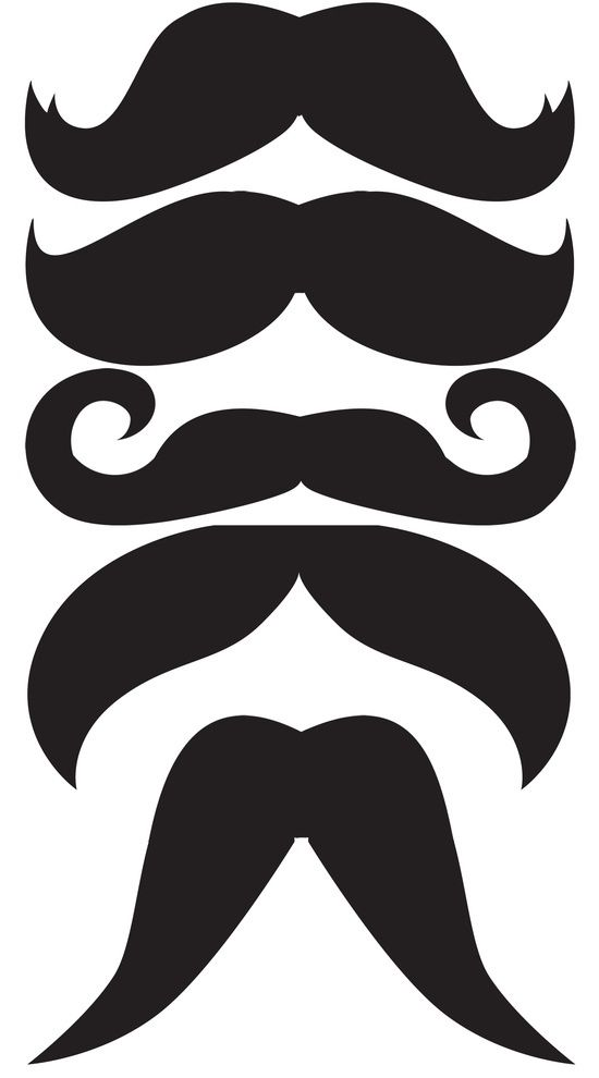 Mustache printable for mustache on a stick - I will theme a party like this one day!