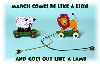 DYI DOLLHOUSE MINIATURES: IN LIKE A LION - OUT LIKE A LAMB pull along toys