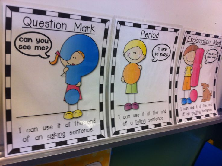Basic Posters for punctuation! Perfect for Kindergarten. Includes: Asking, telling and exciting sentences. $