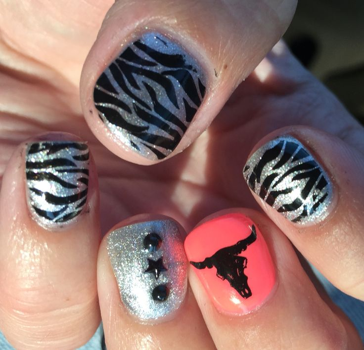 Cowgirl western wild nails