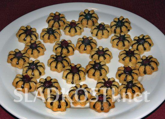 Ořechové kytičky z formiček dia