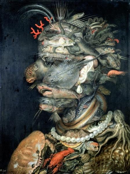"Giuseppe Arcimboldo, ""L'Eau"", 1566.  Art Experience NYC  www.artexperiencenyc.com/social_login/?utm_source=pinterest_medium=pins_content=pinterest_pins_campaign=pinterest_initial"