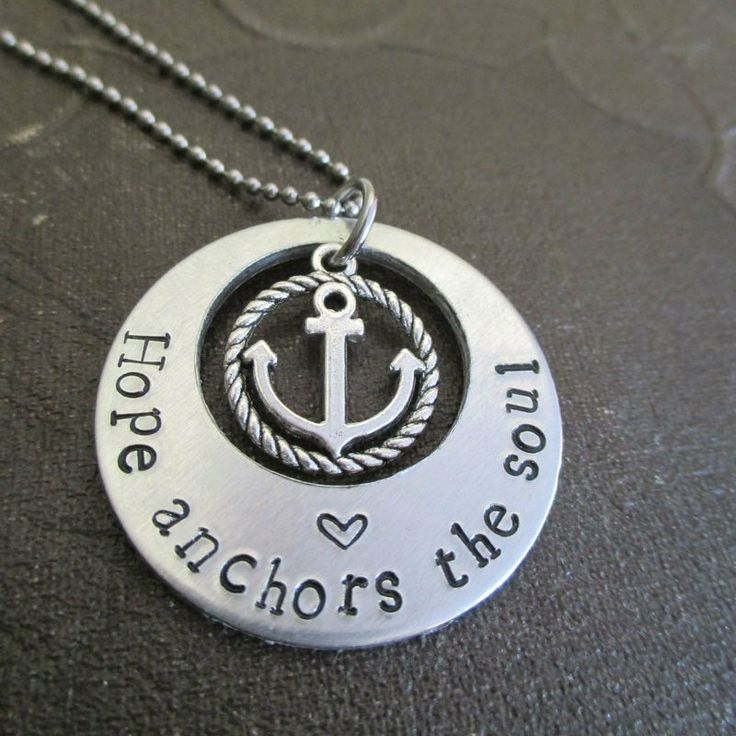 Hope Anchors The Soul Necklace With Anchor Charm, $17.99 (http://www.wholesouljewelry.com/hope-anchors-the-soul-necklace-with-anchor-charm/)