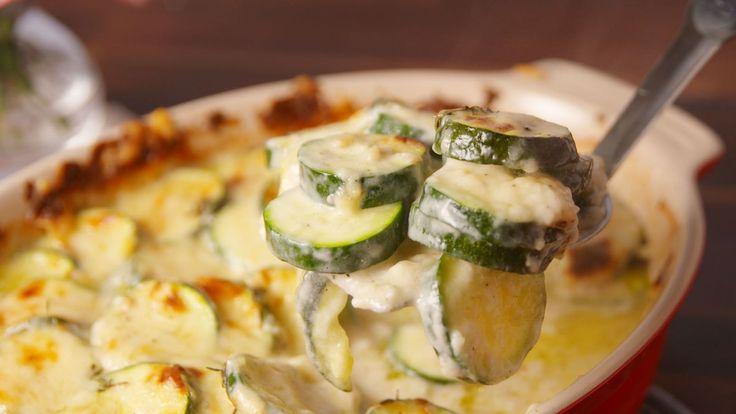Cheesy Scalloped Zucchini