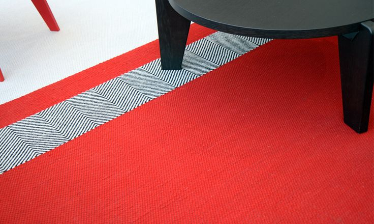CAVALCANTI   Chevron, Pixel and Plain MIX. Flat woven with pure New Zealand wool. Available in bespoke colours and sizes, suitable for stair runners, wall to wall carpets and loose lay rugs. http://www.cavalcanti.co.uk