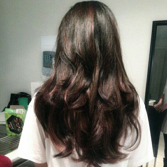 Hair by me - black to deep caramel tones