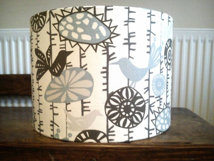 Menagerie fabric covered lampshade