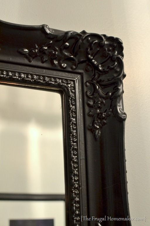 How to spray paint a mirror frame. Awesome to make any mirror fit your  style! Use bedroom mirror, replace the frame with molding