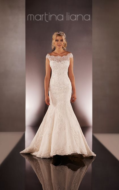 Possibly my favorite!   Wedding Dresses | Off the Shoulder Wedding Dress | Martina Liana