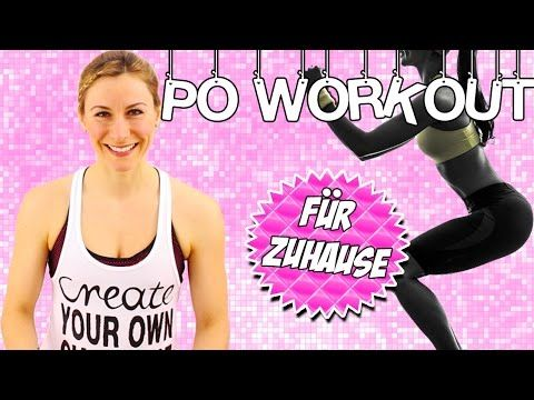 Po Workout für zuhause MEGA Intensiv   Po Workout in nur 8 Minuten   VERONICA-GERRITZEN.DE - YouTube