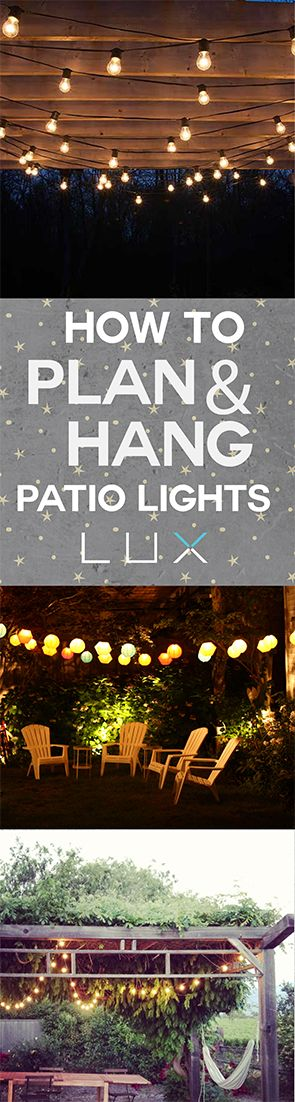 The easiest DIY way to hang patio lights.