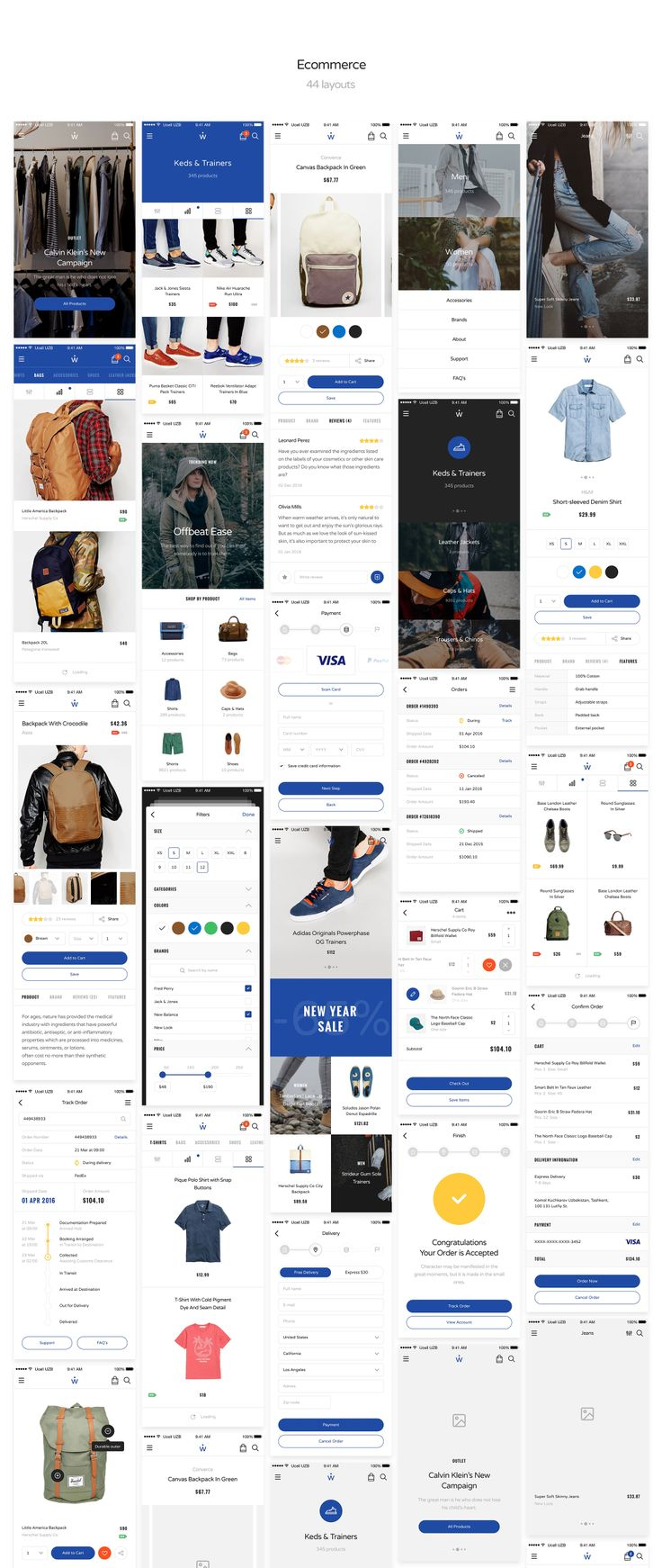 290+ Layouts for UI Design & UX Prototyping