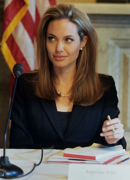 Angelina Jolie Photos - Political and business executives gather information