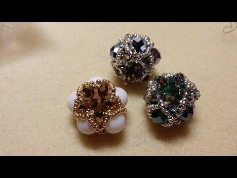 Tutorial Pandorina UFO con Strass/ Chaton, Perline Delica e Rocailles - Beaded bead - YouTube