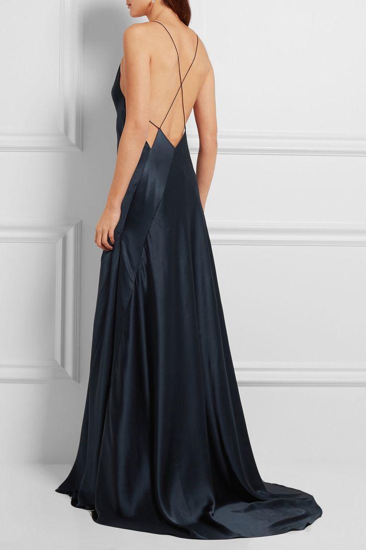 MICHAEL LO SORDO Alexandra silk-satin maxi dress $1,330.00