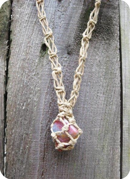 Hemp wrapped stone necklaces! finally! - JEWELRY AND TRINKETS