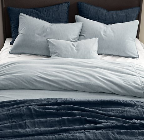 restoration hardware vintage washed chambray duvet cover patchwork linen coverlet shams baby child bedding reviews q