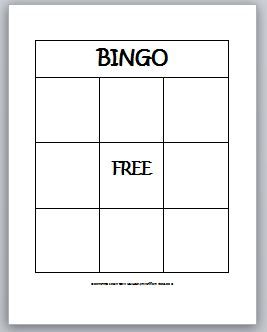 Blank Bingo Template for Teachers | Learning Ideas - Grades K-8: 2-D Shapes Bingo for Kids