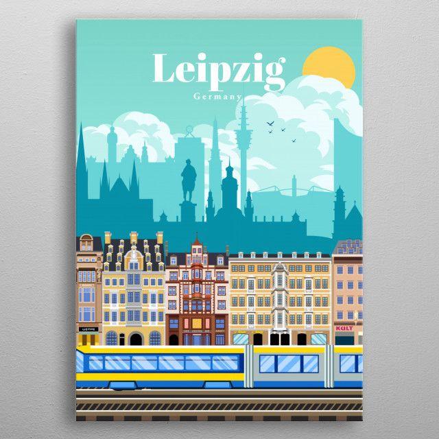 Travel To Leipzig Poster Print By Studio 324 Displate In 2020 Poster Prints Mini Drawings Cool Artwork