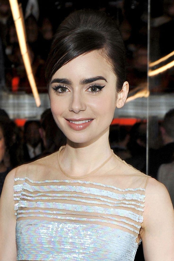 From lily collins hairstyles 2017 best haircuts and hair colors - Red Carpet Hairstyle Lily Collins Celebrity Hairstyle