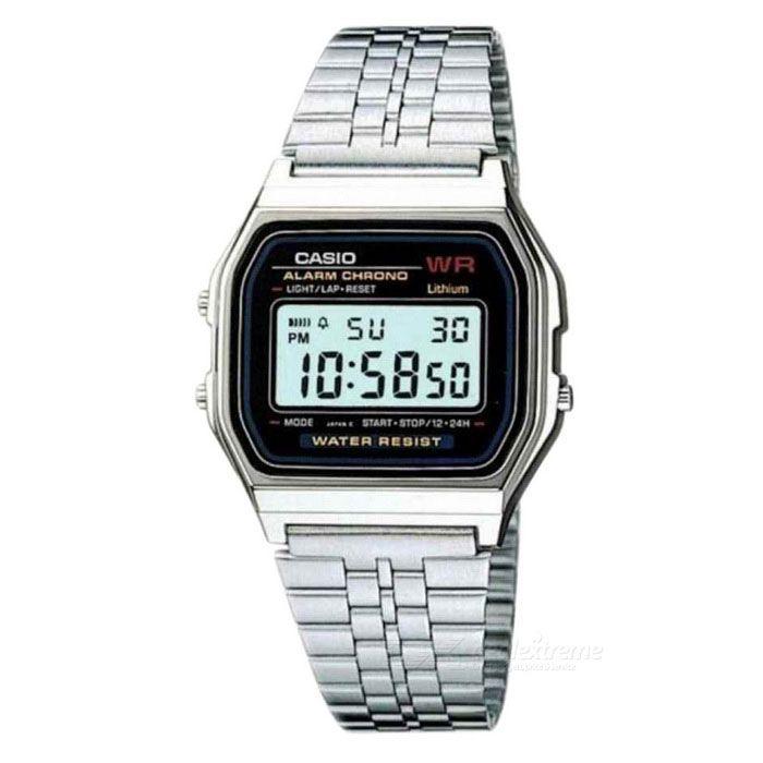 Casio A159W-N1DF Quartz Alarm Digital Watch - Silver (Without Box)
