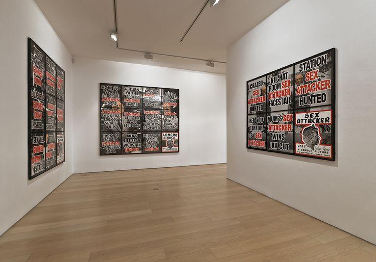 "Bernier/EliadesGallery | Gilbert & George | ""London Pictures"", 2012 | Installation view | Photo by Boris Kirpotin"
