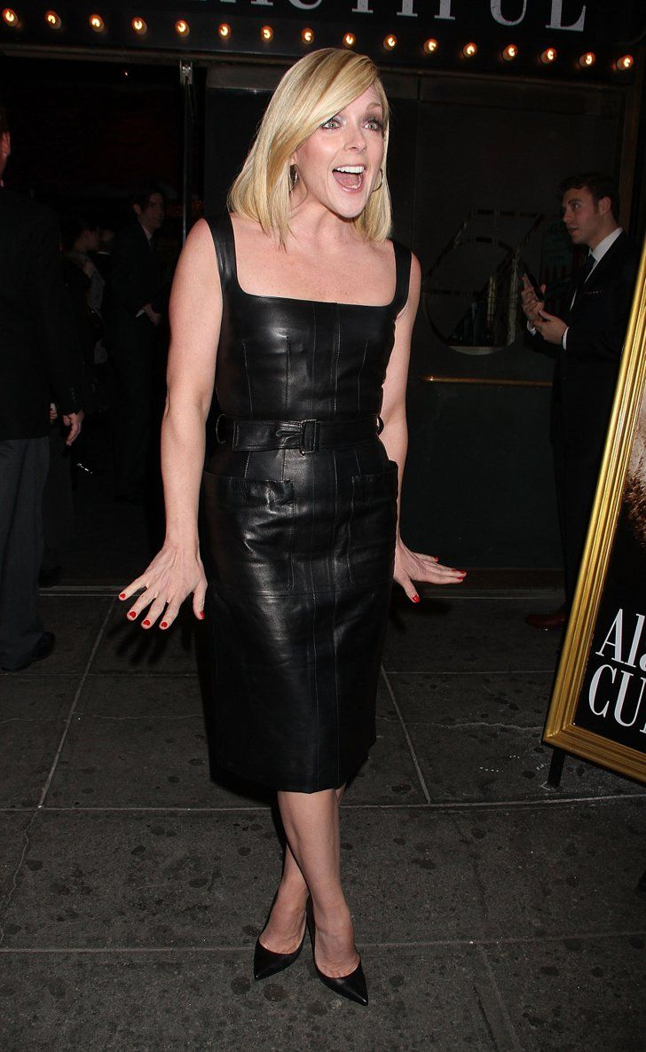 Pin for Later: Johnny Depp and Amber Heard Have a Broadway Date Night  Jane Krakowski wowed in a black leather dress.