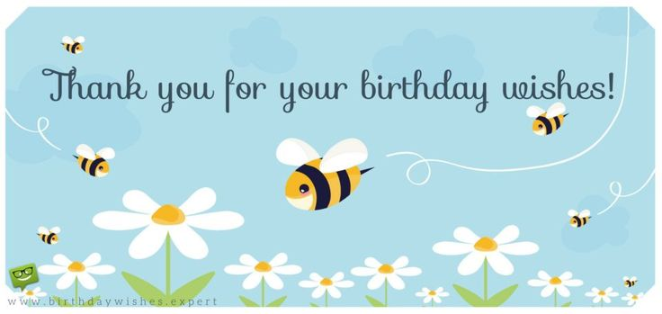58 Best Thank You Images On Pinterest Happy Birthday Thank You For Happy Birthday Wishes Quotes