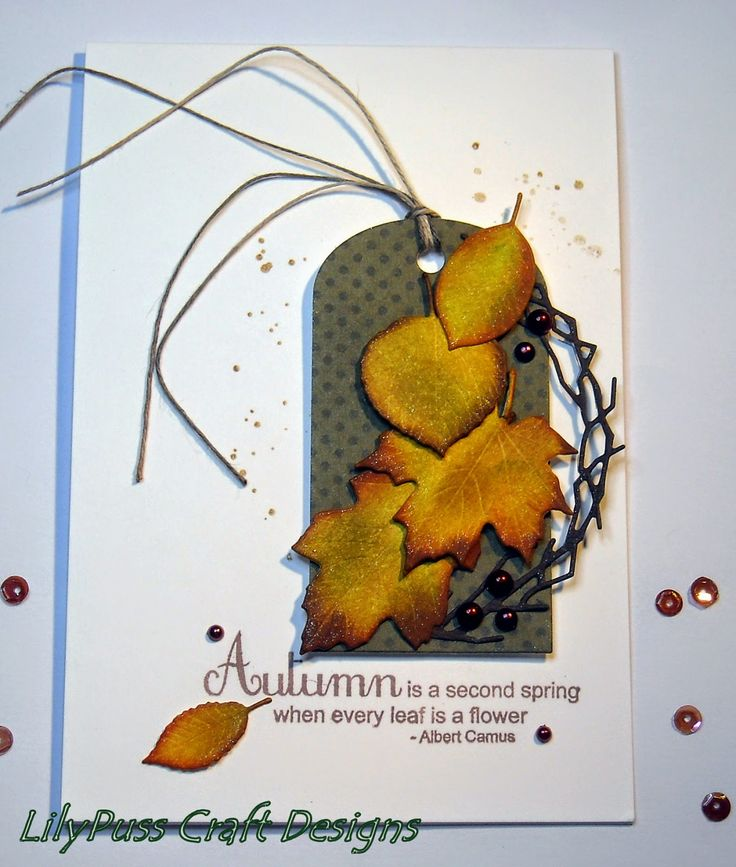 Autumn Leaves Quote Card By Jan