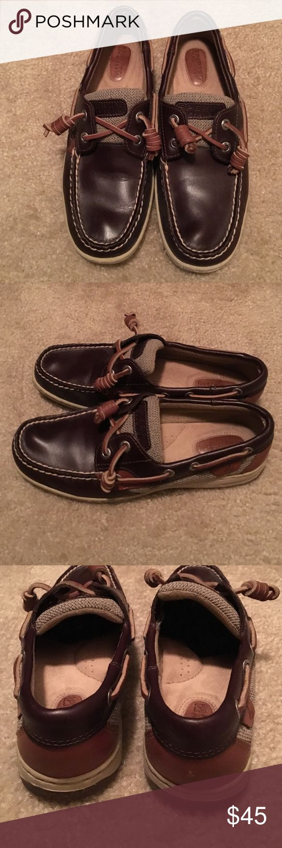 Dark brown Sperry boat shoes Sperrys dark brown boat shoes. Only worn a few times Sperry Top-Sider Shoes Flats & Loafers