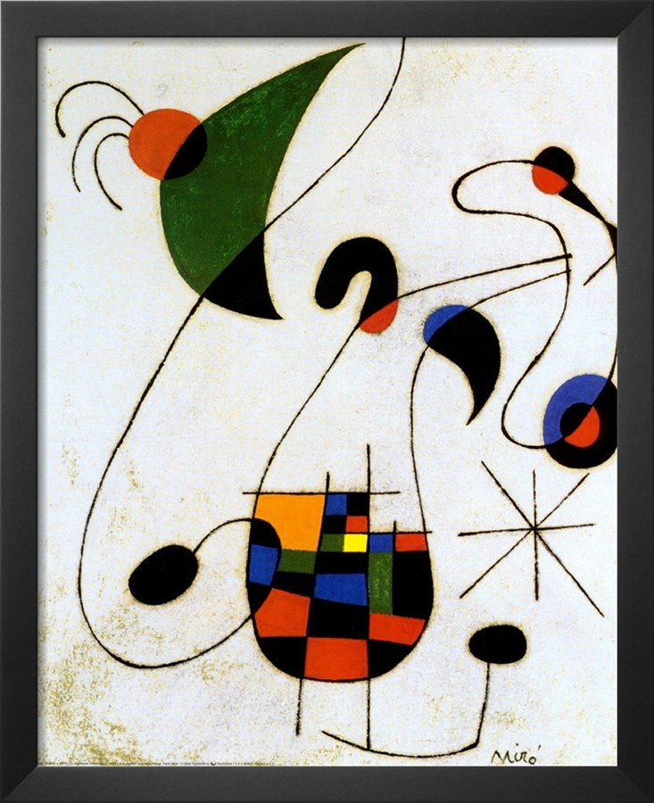 The Melancholic Singer- Joan Miro Painting On Canvas ...