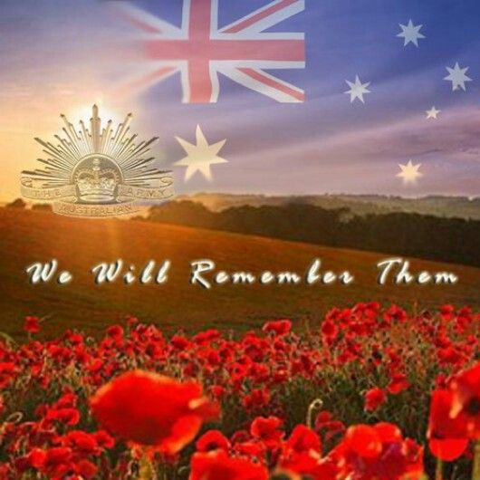 Thank you to the fallen ANZAC's, We will remember them