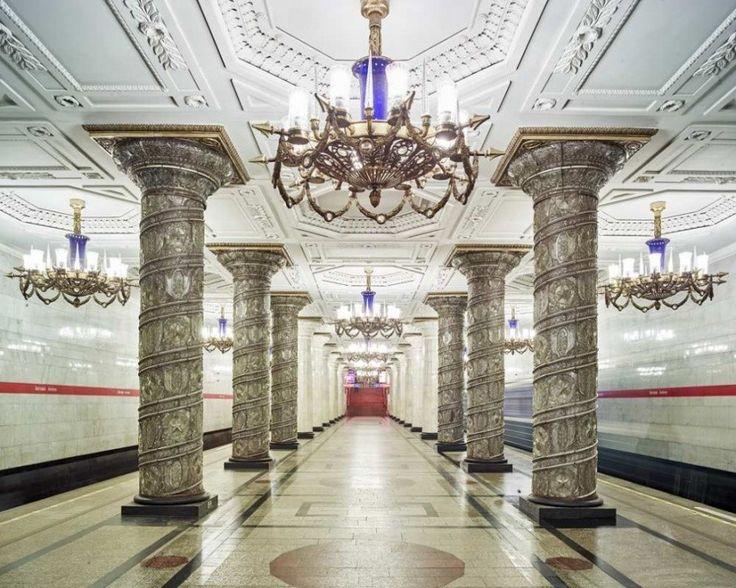 Saint Petersburg Underground, Avtovo station by David Burdeny