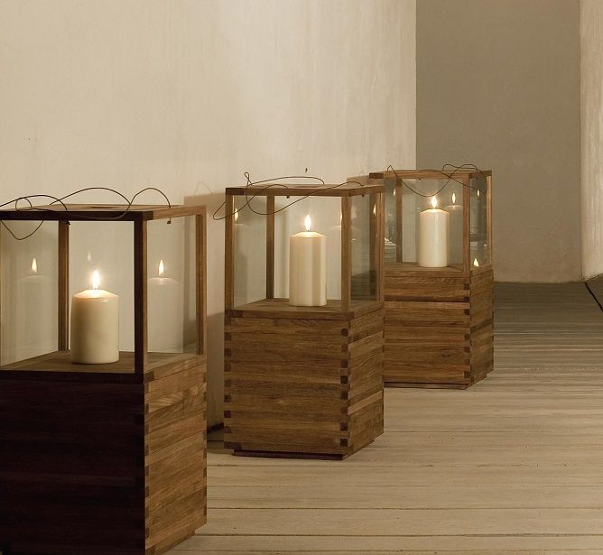 Tribu teak outdoor lanterns  http://www.coshliving.com.au/outdoor-products/outdoor-lighting/tribu-lantern-with-support/