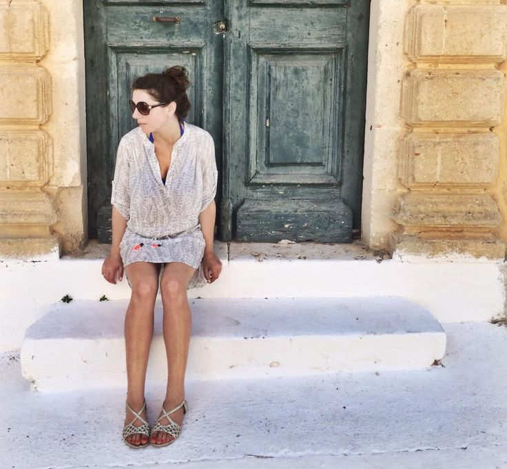 Love #Lixouri...my @heidikleinswim tunic is perfect for this heat. Not clingy, just lovely & cool. #Kefalonia #ootd