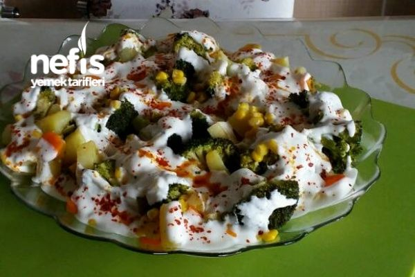 mantı tadındaBrokoli Salatası (tavada pişen )