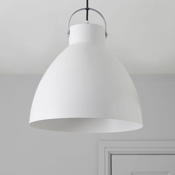 Tibbon White Pendant Ceiling Light | Departments | DIY at B&Q