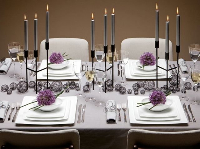 Les 25 meilleures id es de la cat gorie tables de mariage - Modele de centre de table pour noel ...