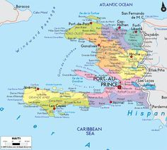 Map of Haiti and Haitian Political Map