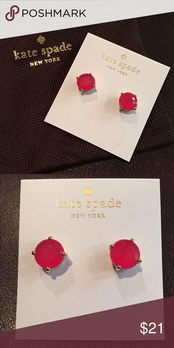 NWT Kate Spade Earrings NWT! Kate Spade gumdrop stud earrings. Color is Sweetheart Pink. Comes with dust bag kate spade Jewelry Earrings