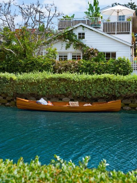 why not ride a canoe down the Venice Canals in LA? http://venicecanalsassociation.org/