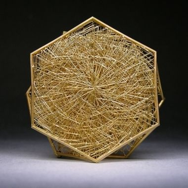 Giovanni Corvaja - Hexagonal Brooch 18K Gold