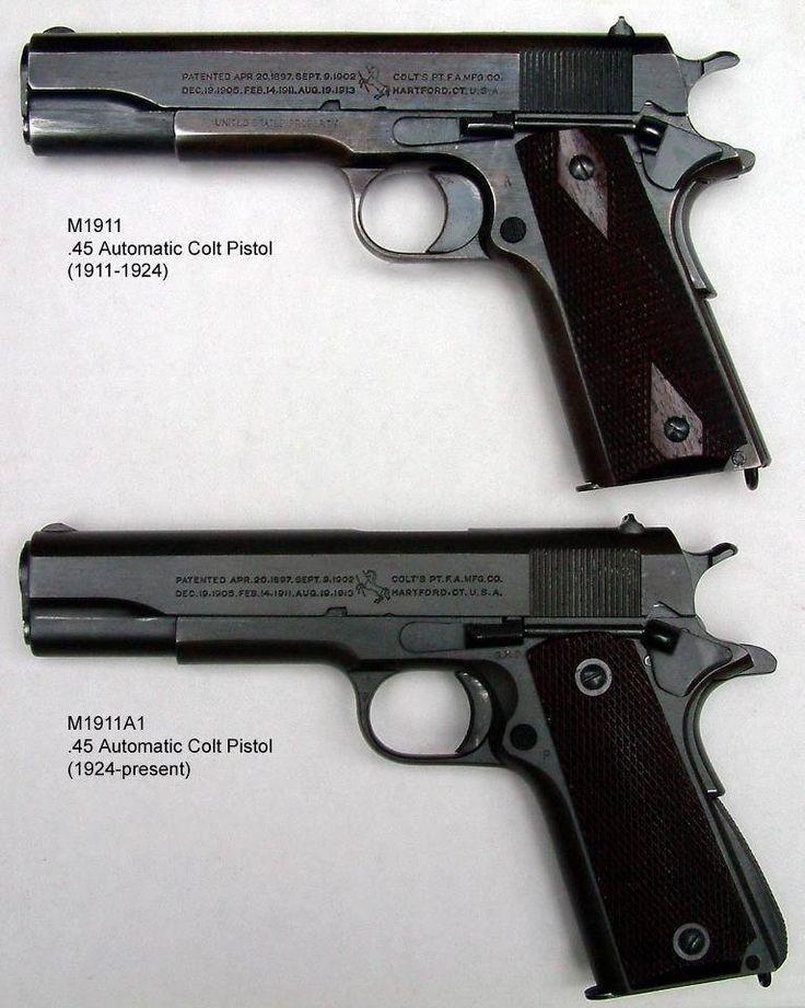M1911. Colt 45 autos.